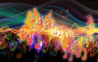 NVMTA Neon Music Notes