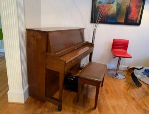 "1992 Baldwin Hamilton 45"" upright piano"